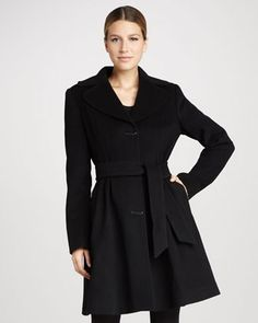 Julia Novelty-Button Coat by Badgley Mischka Outerwear at Neiman Marcus.