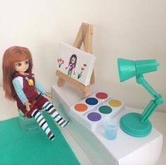 Lottie Dolls drawing creativity colours art for sale on Little Citizens Doll Drawing, Art For Sale, Creativity, Colours, Boutique, Dolls, Photo And Video, Drawings, Kids