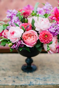 lovely pink floral centerpiece