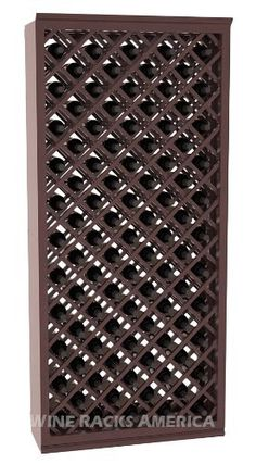 """Five Star Series: 95 Bottle Individual Diamond Wine Bin Wine Cellar Rack Storage Kit in Mahogany with Walnut Stain +Satin Finish by Wine Racks America®. $1002.01. Bottle capacity: 95 bottles (750ml). 11/16"""" wood thickness.. Made from eco-friendly wood sources in sustainable forests. Some assembly required. Industry 1-1/2"""" toe-kick keeps your wine off the floor. Money Back Guarantee + Lifetime Warranty. An Individual Diamond Wine Bin from the Five Star Series provide..."""