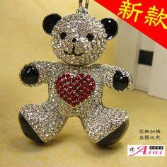 Full rhinestone male Women car key chain keychain lovers male women's