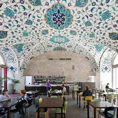 Corbaci was planned by two French architects and designed after the idea of a Turkish coffee house, where you enjoy food and drinks and rest your feet for some time. The architectonial factor of the interior had a very big emphasis as the center for architecture is right next door.