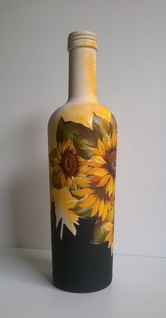 , look up made by hand, classic, and one regarding a level products and their personal gifts associated with each of your search. Painted Glass Bottles, Glass Bottle Crafts, Wine Bottle Art, Diy Bottle, Vodka Bottle, Pottery Painting Designs, Decoupage Glass, Bottle Centerpieces, Vase Crafts