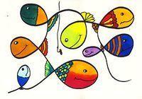 At the carp pond - Art Lesson Plans Elements Of Art Texture, Elements Of Art Space, Art History Timeline, Art History Lessons, Primary School Art, Elementary Art, Artists For Kids, Art For Kids, Kindergarten Art Lessons