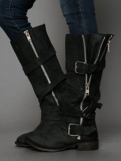 Of course I'm in love with these boots!! Marlo Zip Buckle Boot @Betsy Albetta DiGiovanni