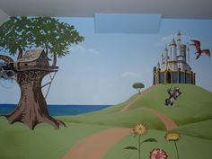 Children's Playroom Treehouse, Dragon, Knight, Horse and Castle
