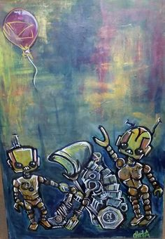 Letting go of anything that will blow up in my face. By chicka. My latest subject focus is robots with empathy and advive.
