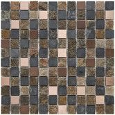 "Found it at Wayfair - Abbey 7/8"" x 7/8"" Natural Stone and Metal Textured Mosaic in Alloy Rosa"