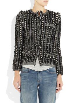 Chloé|Fringed wool jacket