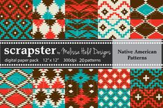 Check out Native American Patterns by scrapster on Creative Market