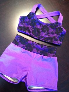 Stretch Lace Dance Top and Shorts. $48.00, via Etsy.