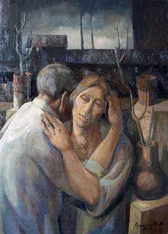 untitled picture (1995) by Lydio Bandeira de Mello (b. 1929), Brazilian works in the fresco tradition (bandeirademello)