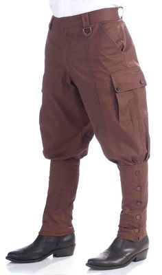 Steampunk Costume | Steampunk Brown Pants - Halloween Costumes
