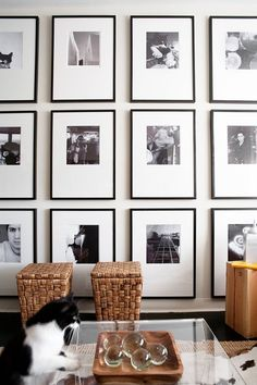 Floor to ceiling black and white photographs | photo by virginia macdonald.