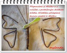 moje tvořeníčko - Fotoalbum - PLETENÍ Z PAPÍRU-návody - omotávaný motýl návod (2)
