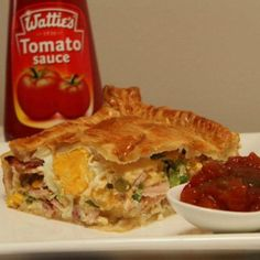 This Bacon and Egg Pie Puff Pastry Recipe has been incredibly popular and you are going to love it. We have the recipe and quick video to show you how. Egg And Bacon Pie, Egg Pie, Bacon Egg, Breakfast Puff Pastry, Breakfast Pie, Breakfast Recipes, Breakfast Ideas, Savory Pastry, Savory Tart