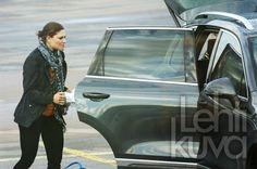 Crown Princess Victoria, Prince Daniel and Princess Estelle arrived at the airport of Kalmar