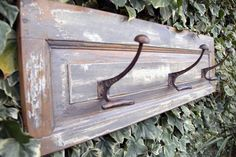 perchero  decapado vintage Decorative Tray, Recycled Windows, Deco, Cottage Decor, Home Decor, Cabinet Doors, Country Cottage Decor, Furniture, Entrance Hallway