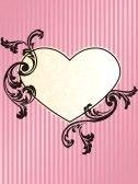 Elegant heart-shaped pink frame design stock photography
