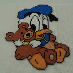 Baby Donald Duck hama beads by Pernille Henriksen