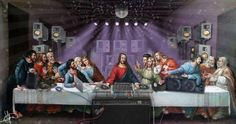 An appropriation of the 'Last Supper' for a VA assignment. No offence or blasphemy intended! Last Supper Appropriation Appropriation Art, Lynn Davis, Techno Mix, Fisher, Famous Artwork, Merry Christmas To All, Christmas Jesus, Last Supper, Music Images