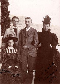 Grand Duke Michael Alexandrovich, Grand Duke George Alexandrovich, their mother, Dowager Empress Maria
