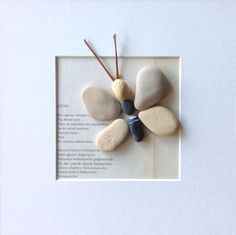 Pebble Butterfly with Poem or Story