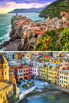 Vernazza, Cinque Terre, Italy! Click through to see some of the most colorful cities in the world! This post does not contain industrial soot stained cities; instead it showcases some of the most vibrant looking cities in the world.