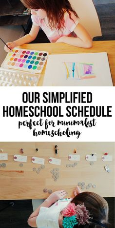 Simplifying Our Homeschool Schedule - Minimalist Homeschooling - Intentional Homeschooling