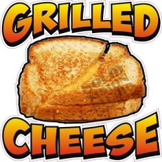 """14"""" Grilled Cheese Sandwich Restaurant Bar Fast Food Concession Vinyl Sign Decal"""