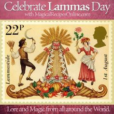 Lore and Magic of Lammas Day, Lughnasadh british english stamp royal