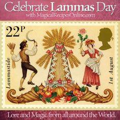 Lore and Magic of Lammas Day, Lughnasadh british english stamp royal