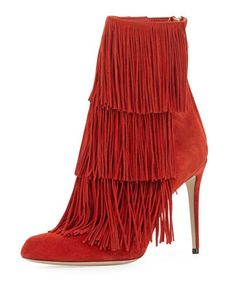Taos Suede Fringe Bootie by Paul Andrew  | cynthia reccord