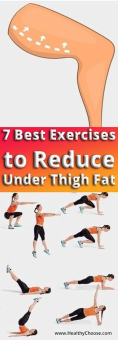 7 Best Exercises to Reduce Under Thigh Fat #healthy #fitness #fat #beauty #workout #skin