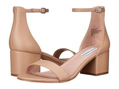 I am ALWAYS searching for a pair of nude heels! I want a chunky heel, not too high, with an ankle strap. These would work!!  Steve Madden Irenee