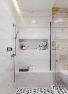 Useful Walk-in Shower Design Ideas For Smaller Bathrooms – Home Dcorz Bathroom Renos, Bathroom Interior, Small Bathroom, Master Bathroom, Bathroom Showers, Condo Bathroom, Shower Remodel, Bath Remodel, Ideas Baños