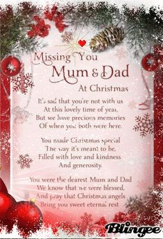 blingee graphics miss you mom and dad at christmas Merry Christmas In Heaven, Christmas Poems, Christmas Messages, Christmas Love, Christmas Pictures, Mum Poems, Grief Poems, Mother Poems, Mom And Dad Quotes