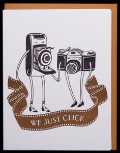Aw, this is cute! (And I actually have cameras similar to both of those. Haven't used them in ages but I have them. LOL)