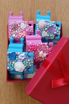 Create Your Own, Create Yourself, Phone Stand, Hearts, Gems, Flowers, Beautiful, Design