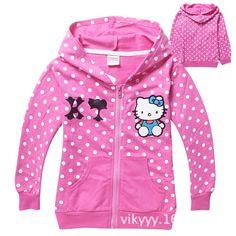Spring jacket girls kids clothes Hello kitty outerwear thin kids jacket autumn coat baby girls sweatshirt casaco infantil menina //Price: $25.92 //     #fashionkids