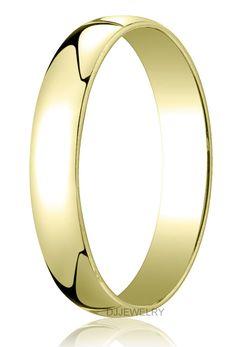 10k White Gold 8mm Engravable Half Round Wedding Band