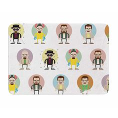East Urban Home The Stages of Walter White by Juan Polo Memory Foam Bath Mat