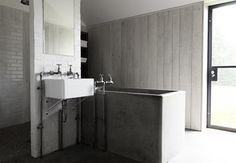 www.norfolkproduction.co.uk #STB432 Modern & contemporary home - shoot location - white - grey - scandi - bathroom - concrete