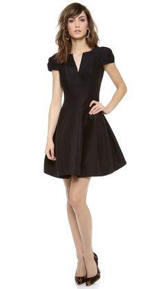 Halston Heritage Notch Neck Dress | Shopbop