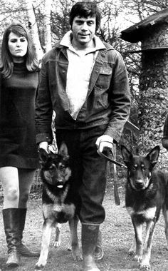 Oliver Reed was a big animal lover. Oliver Reed, Photography Movies, Big Animals, Gsd Puppies, All Gods Creatures, British Actors, Shepherd Dog, Love And Light, Old Pictures