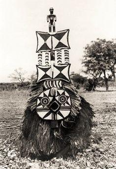 Bobo Masquerader in Dédougou, Burkina Faso. ca. 1911 Ethnographic Museum Berlin