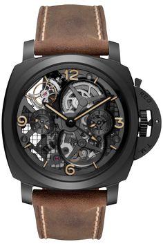 LO SCIENZIATO - Luminor 1950 Tourbillon GMT Ceramica - 48mm PAM00528 - Collection Luminor 1950 - Officine Panerai Watches