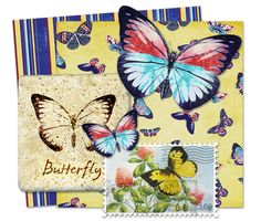Download this Beautiful Butterflies Scrapbooking Kit and other free printables from MyScrapNook.com