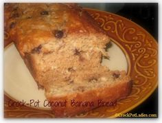 Crock-Pot Coconut Banana Bread - If you love coconut then you are going to have to try this recipe for Crock-Pot Coconut Banana Bread. We love making quick breads in our slow cooker because it doesn't heat up the kitchen!   CrockPotLadies.com