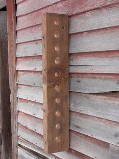 Vintage Timber 10 Hole Wine Rack
